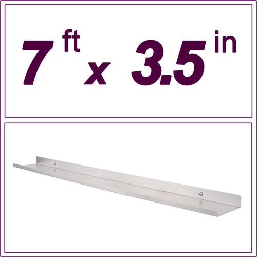 7ft Stainless Steel picture ledge