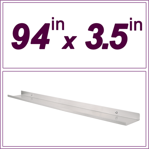 94in Stainless Steel picture ledge