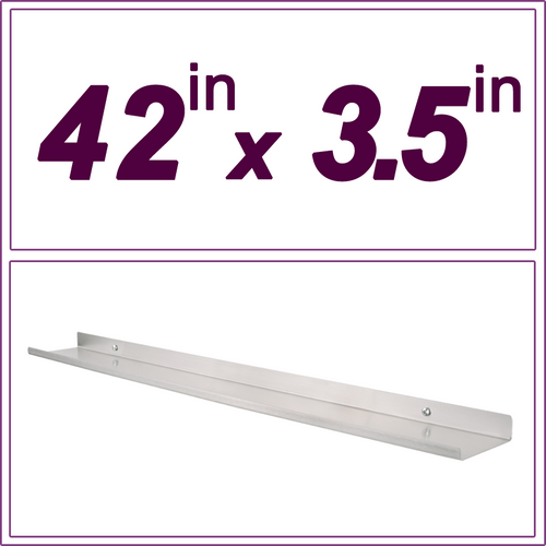 42in Stainless Steel picture ledge