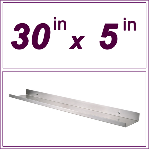 30in Stainless Steel picture ledge