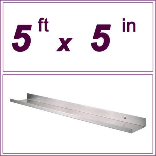 5ft Stainless Steel picture ledge