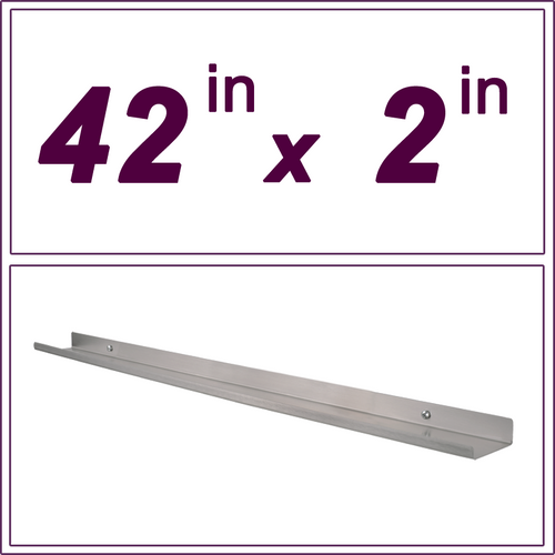 42in Stainless Steel ledge