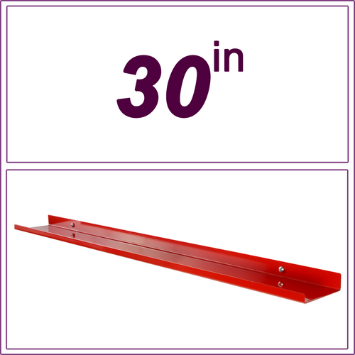 30in Red over-the-range shelf / spice rack