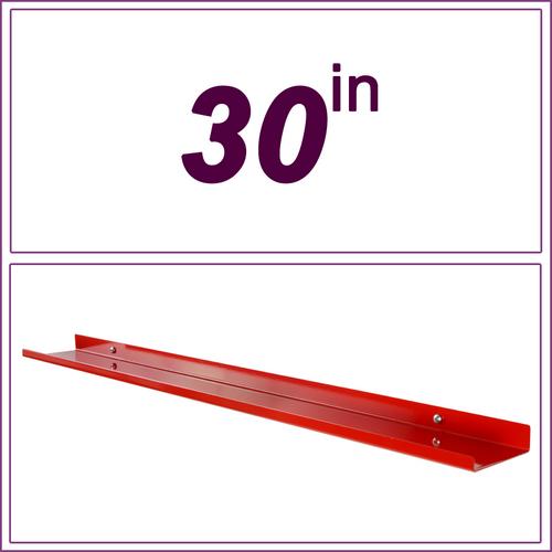 30in Red over-the-range shelf / spice rack