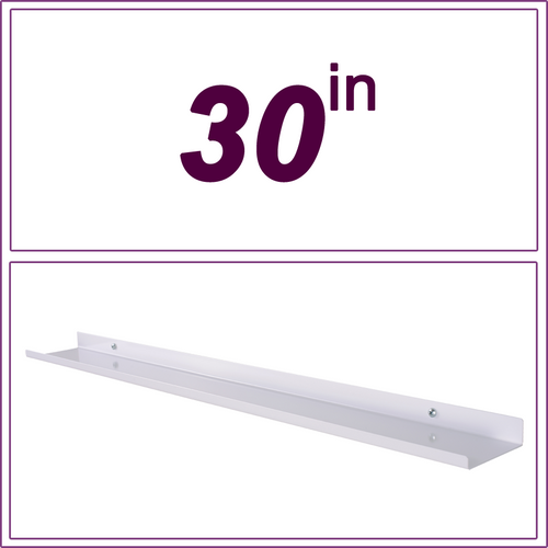 30in White over-the-range shelf / spice rack