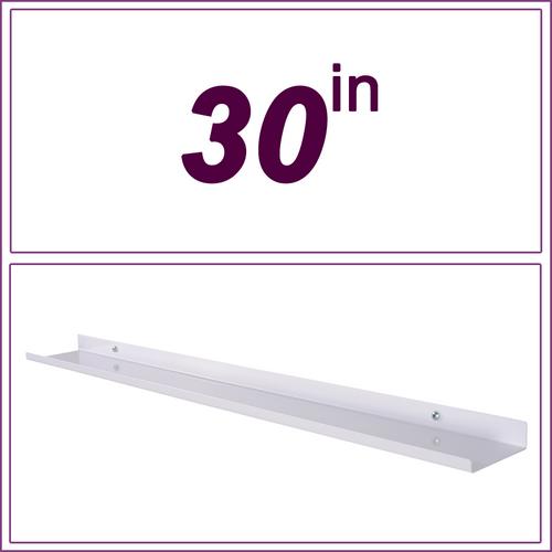 30in White over-the-range shelf / spice rack