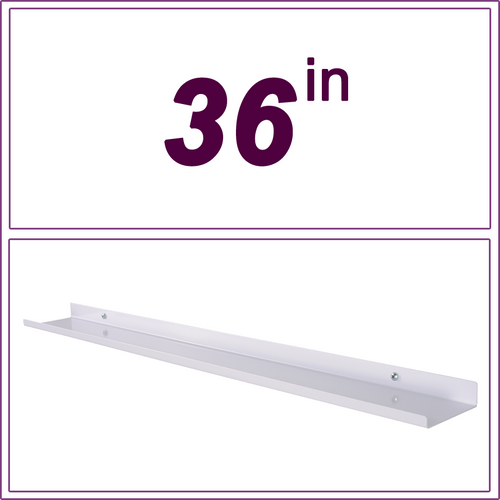 36in White over-the-range shelf / spice rack