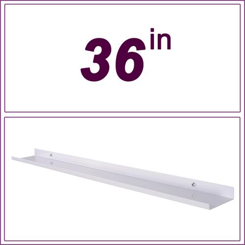 36in White over-the-range shelf / spice rack