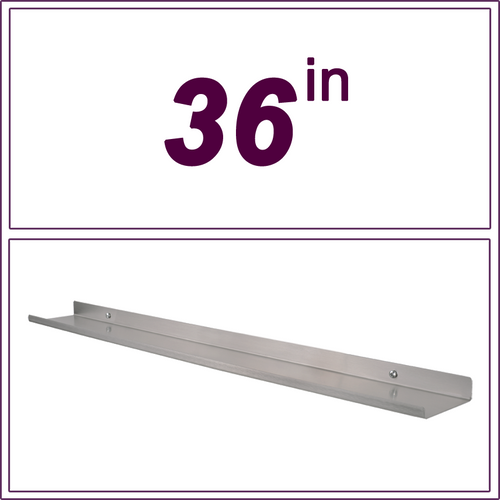 "36"" STAINLESS STEEL over-the-range shelf"