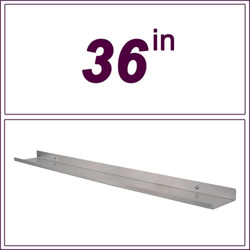 """36"""" STAINLESS STEEL over-the-range shelf"""