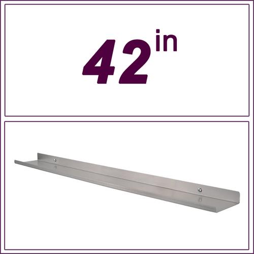 """42"""" stainless steel over-the-range shelf"""