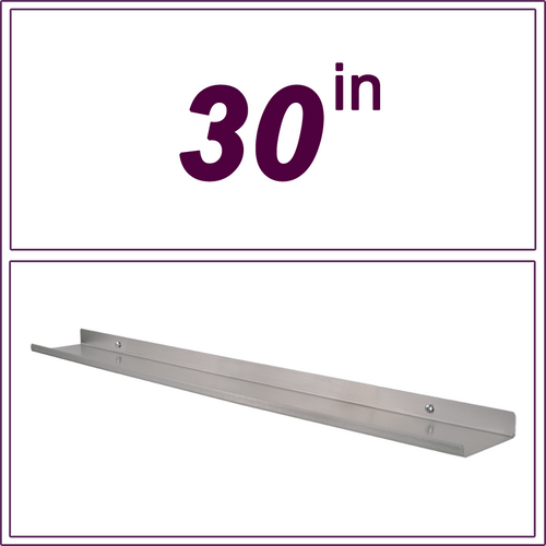 "30"" STAINLESS STEEL over-the-range shelf"