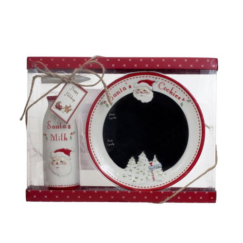 Jolly Santa's Message Plate Set - 2 Piece