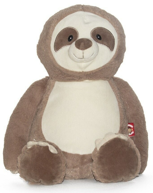 NEW Custom embroidered birth stats sloth stuffed animal