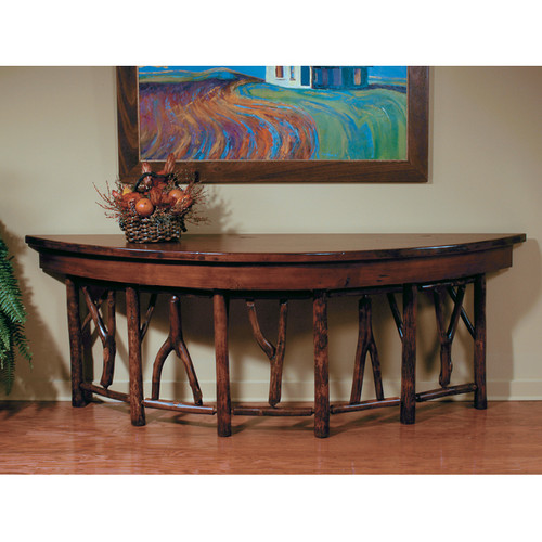 Black Forest Hickory Console Table