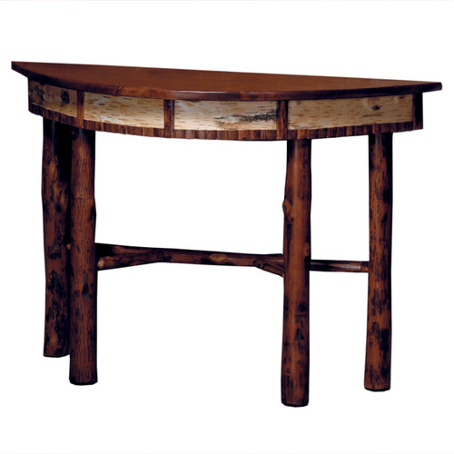 Black Forest Hickory and Birch Bark Console Table