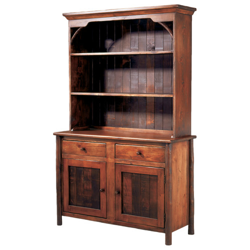 Black Forest Hickory Cottage Hutch with Base