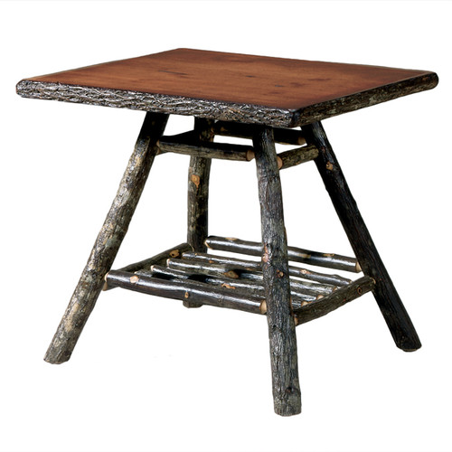 Black Forest Hickory Natural Bark Lamp Table