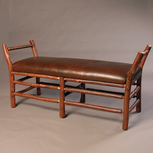 Black Forest Hickory Bench with Arms