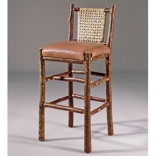 Black Forest Caned Back Hickory Bar Chair
