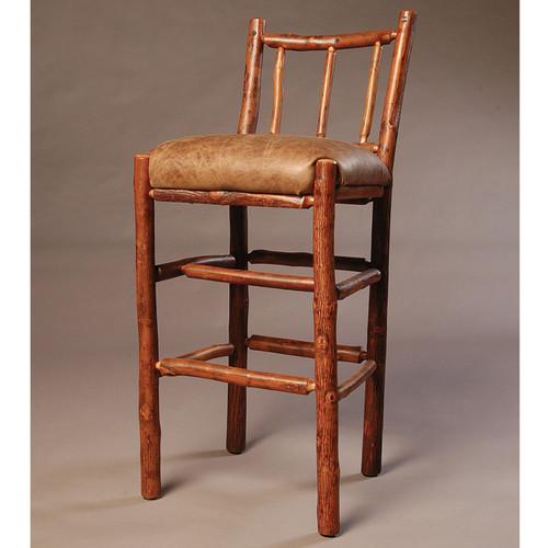 Black Forest Rail Back Hickory Bar Chair