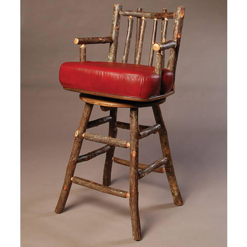 Black Forest Swivel Bar Chair with Arms