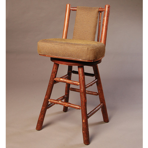 Black Forest Swivel Hickory Bar Chair