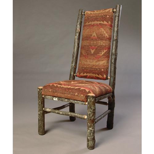Black Forest Highback Hickory Log Side Chair