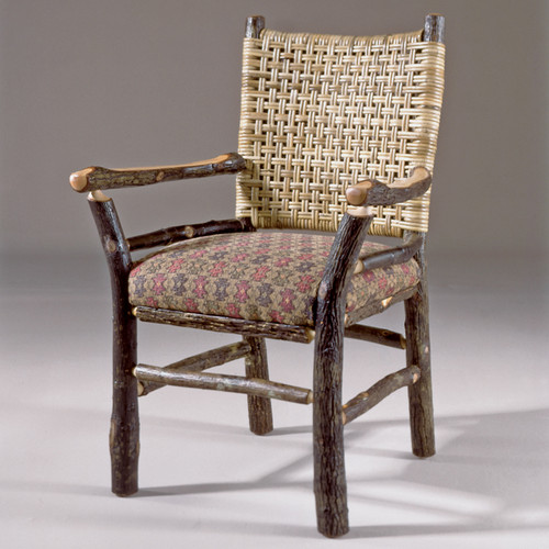 Black Forest Caned Back Hickory Arm Chair