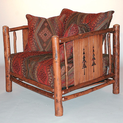 Black Forest Pine Tree Hickory Lounge Chair