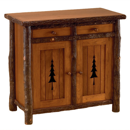 Black Forest Pine Tree Wine Rack Cabinet