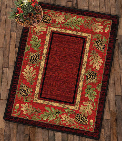 Woodlands Pinecone Rug Collection
