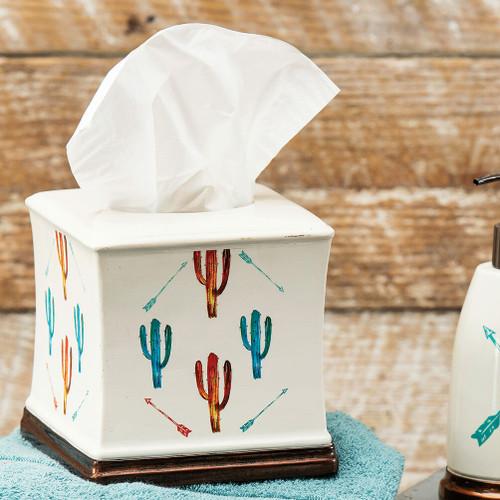 Free Spirit Cactus Tissue Box