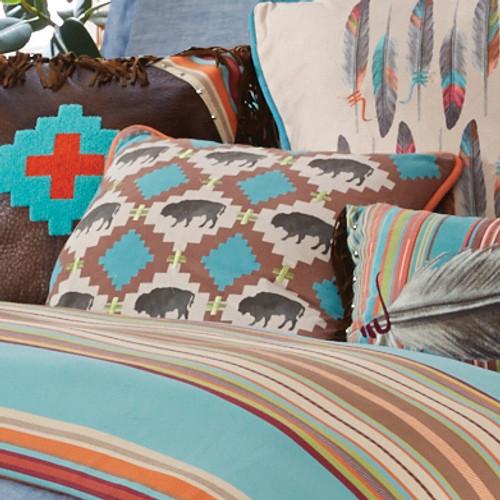 Free Spirit Multi Buffalo Pillow