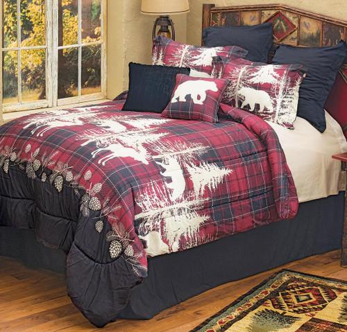 Yukon Plaid Moose & Bear Bedding Collection