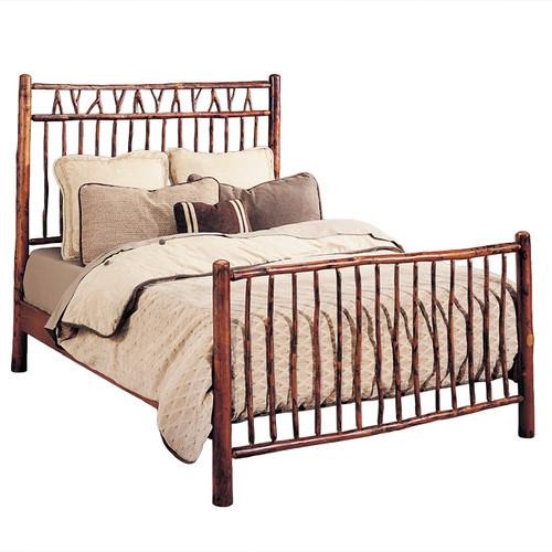 Black Forest Hickory Slingshot Bed - King