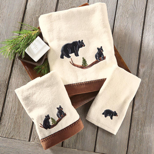 Black Bear Family Towel Collection