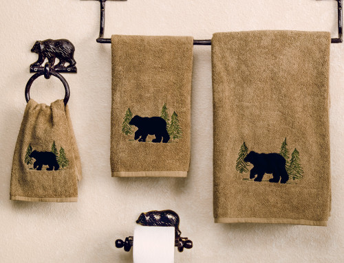 Black Bear Forest Towel Collection
