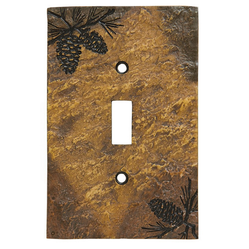 Stone Finish Pinecone Switch Covers
