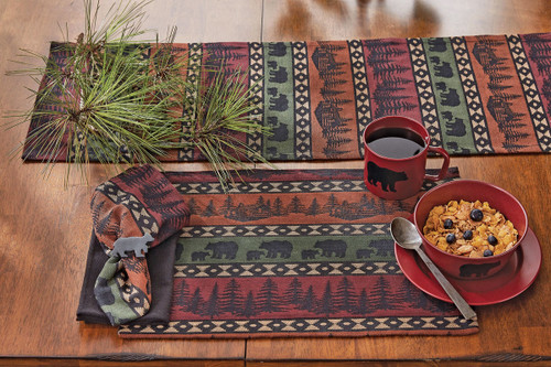 Mountain View Bear Table Linens