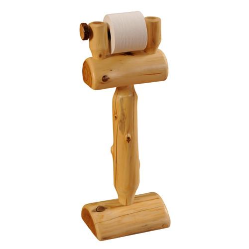 Standing Log Toilet Paper Holder