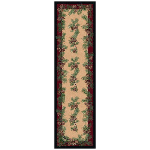 Gifts of the Forest Burgundy Rug - 2 x 8