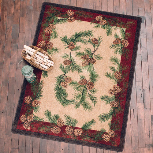 Gifts of the Forest Burgundy Rug - 5 x 8