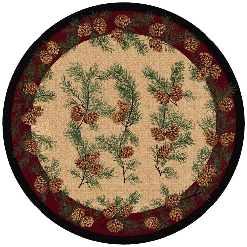 Gifts of the ForestBurgundy Rug - 8 Ft. Round