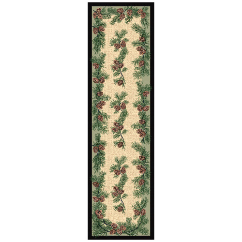 Gifts of the ForestGreen Rug - 2 x 8