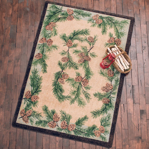 Gifts of the Forest Green Rug - 4 x 5