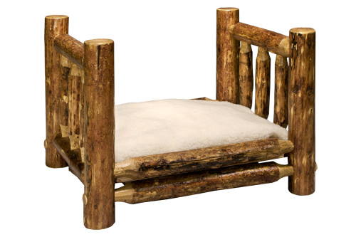 Glacier Medium Dog Bed with Mattress