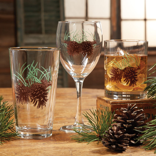 Pinecone and Needles Glassware Collection