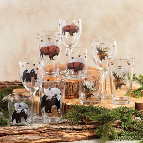 Rustic Wildlife Glassware Collection