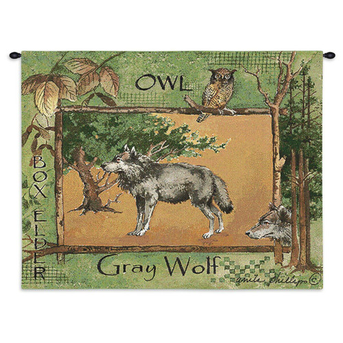Gray Wolf Wall Tapestry